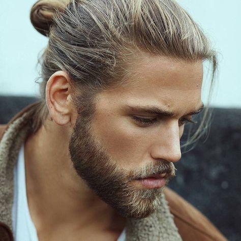 frisyrer män långt hår