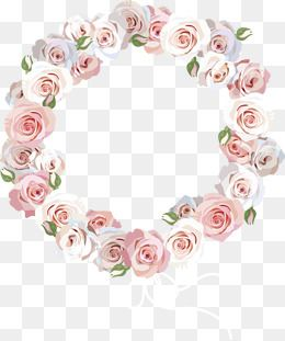 Rose Border Rose Pink Flowers Circles Png Transparent Clipart Image And Psd File For Free Download Flower Png Images Pink Flowers Art Drawings Simple