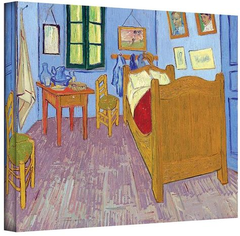 18\'\' x 24\'\' \'\'The Bedroom\'\' Canvas Wall Art by Vincent van Gogh