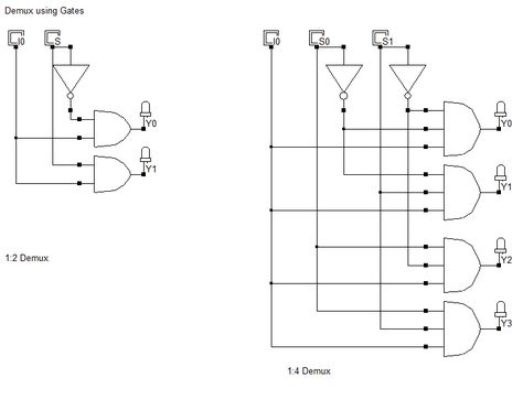 Digital Logic Circuits Of Demultiplexers Using Logic Gates Check Out The Link Below For Our Definitive Guide On Multi Circuit Design Electronics Circuit Logic