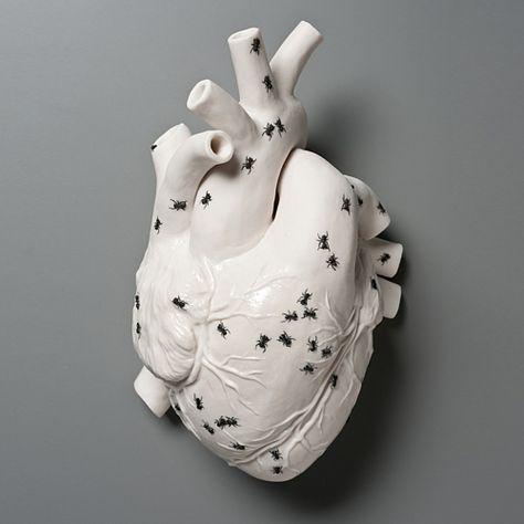 Mira el corazón de cerámica!!... #corazon