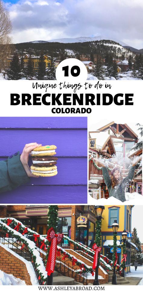 There are many reasons to visit Breckenridge, Colorado. Many flock to go skiing in Breckenridge. Here are 10 unique things to do in Breckenridge that are NOT skiing! I things to do in Colorado I visit Colorado I USA travel I Breckenridge Estes Park Colorado, Vail Colorado, Denver Colorado, Colorado Springs, Pueblo Colorado, Dillon Colorado, Colorado Winter, Colorado Rockies, Skiing Colorado