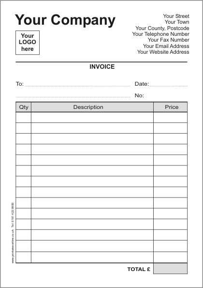 Printable Invoices Printable Contractor Invoice Template Free Invoice Template Invoice Template Word Printable Invoice