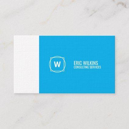 Modern Minimalist Elegance Blue White Business Card Zazzle Com