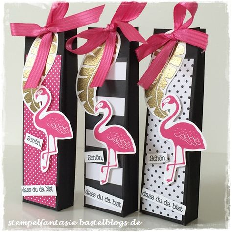 Stampin Up_Gastgeschenk_Goodie_Give Away_Katalogparty_Pop of Paradise_Flamingo_Amicelli_Verpackung_Tuete_Stempelfantasie_1