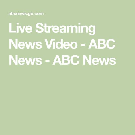 Live Video Abc News Live News Live