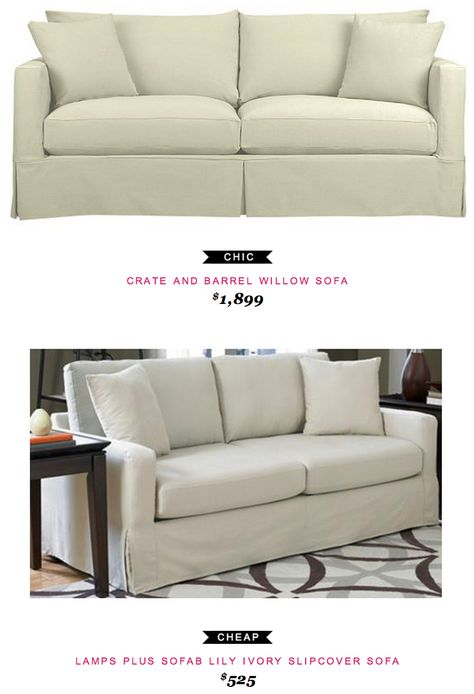 Crate and Barrel Willow Sofa $1,899 -vs- Lamps Plus Sofab Lily