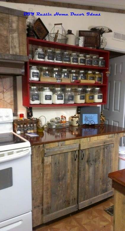 Diy Country Kitchen Cabinets Amazing Rustic Kitchen Island DIY Ideas | Rustic kitchen cabinets