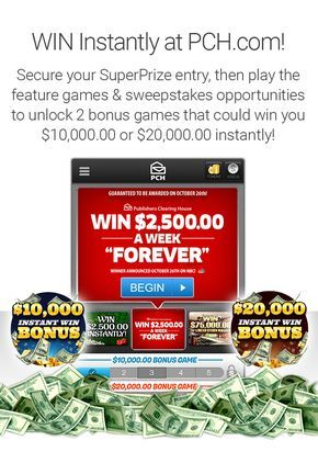 VIP Benefit Page | PCH com  CLAIM SUPERPRIZE BY BRUCE WILLIAMSON PCH