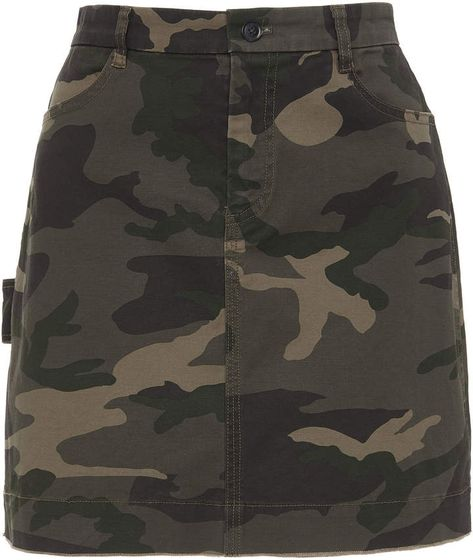 High-Waisted Camouflage Cotton-Twill Mini Skirt by ATM Anthony Thomas Melillo