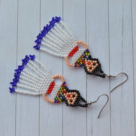 185520ad7 Frida Kahlo earrings Mexican Lady Earrings Mexican Fiesta Doll Earrings  Fringe earrings Tassel earri