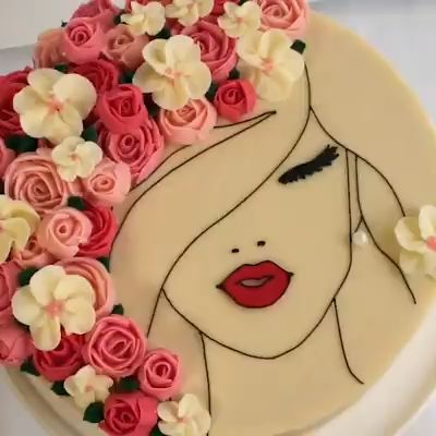 The most beautiful cake you have ever seen is this floral face cake! Credit: Cake Style