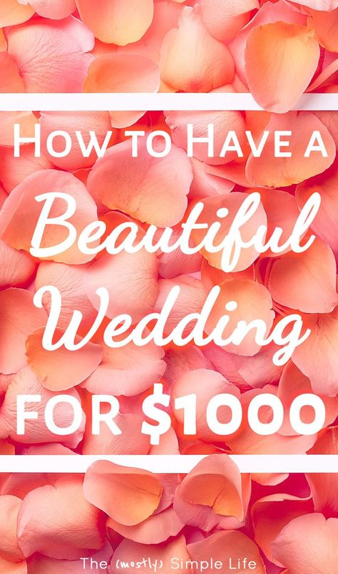 If you're planning a wedding on a budget, you're going to want to read these ideas! We got married for $1000 in a simple outdoor (beautiful) wedding! It was cheap, classy, and perfect. #wedding #weddingideas #weddingonabudget #onabudget #simplewedding #weddingday #weddingplanning via @mostlysimple1