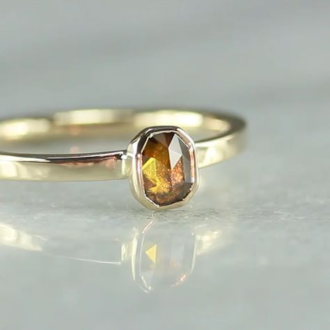 .31 Carat Whiskey Diamond Ring in Yellow Gold