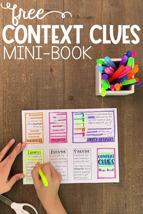 FREE Context Clues Mini-Book