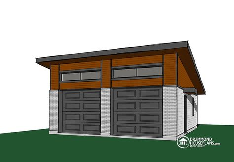 Good ShedRoof Garage Example  For Plan Pdf  Homesteading