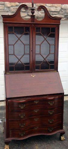 English Slant Front Desk Completed Furniture Desks Secretaries | Desks  Victorian Antique Desks (1900