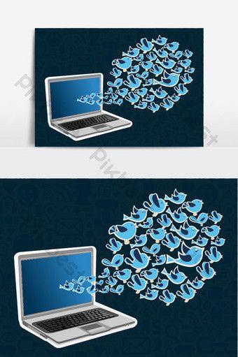 Twitter Birds Splash Computer Application Png Images Eps Free Download Pikbest In 2020 Post Design Computer Template Design