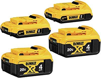 Dewalt Dcb324 4 20v Max Lithium Ion Battery 4 Pack Lithium Ion Batteries Dewalt Battery Shop