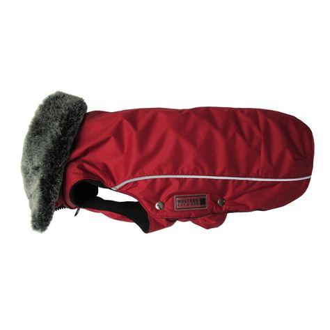 Wolters Winterjacke Amundsen rot XS - XL Hunde Winterjacke Hundejacke Hundewinterjacke Hundemantel Mit Öffnung für ein Geschir: Amazon.de: Haustier