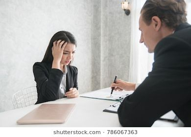 Young Employee Stress Job Two Finance Managers Discuss Their Sales