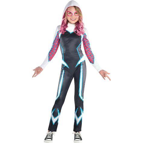 2019 Into the Spider-Verse New Design Gwen Stacy Spidergirl Costume Tights Kids