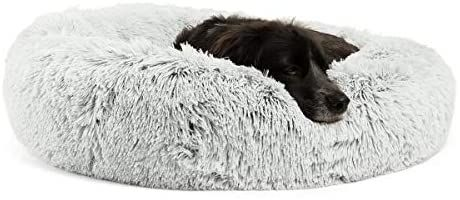 Amazon Com Best Friends By Sheri Calming Shag Vegan Fur Donut Cuddler 45x45 Xl Taupe Removable Zippe In 2020 Dog Beds For Small Dogs Dog Bed Cushion Dog Cushions