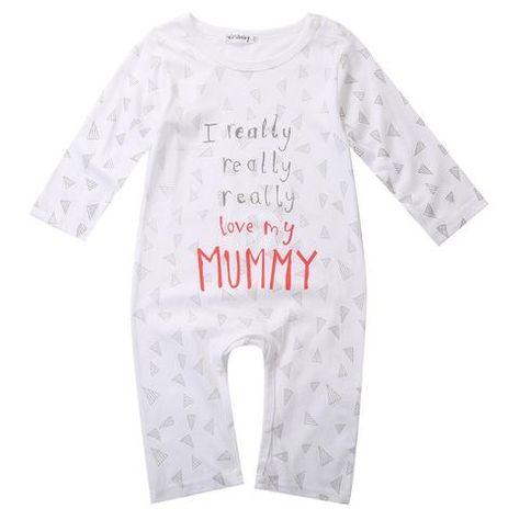 I Love Mummy /& Daddy  Baby Boy Girl Baby grow Sleepsuit rompers