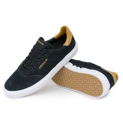 cirujano ligeramente Nunca  Adidas 3MC Vulc Shoes - Black/Mesa/White | Pretend Supply Co. | Black  shoes, Shoes, Adidas suede