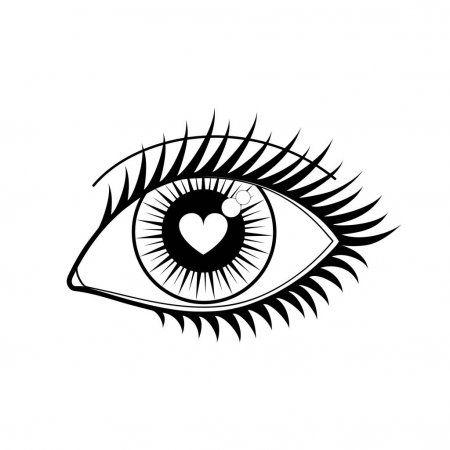 Ojo Del Icono Del Amante Ilustracion De Stock En 2020 Ojos Para Colorear Ojos De Dibujos Animados Dibujos