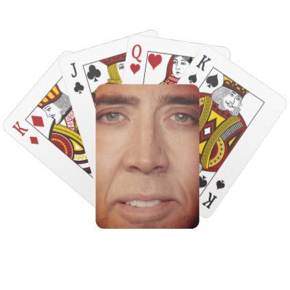 Nicolas Cage Face Playing Cards Home Gifts Ideas Decor Special