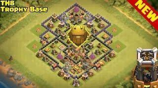Base Coc Th 8 Push Trophy 6