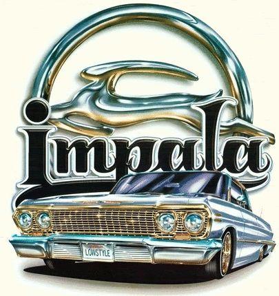 Shiny Chevy photo impala.gif | Lowrider art, Impala, Lowrider drawings
