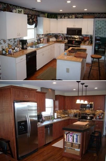 Perfect Before U0026 After Of Kitchen Remodel By Granite Transformations. GTSJ.
