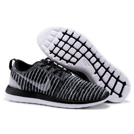 various colors 0c71d 1a7ae Roshe Two Low Flyknit Shoes Gray Black White - Roshe Run