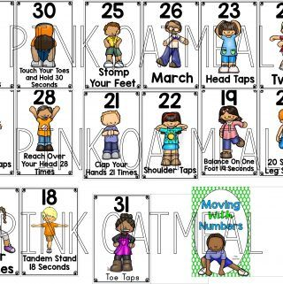 Moving With Numbers Montessori Learning Numbers Calendar Time