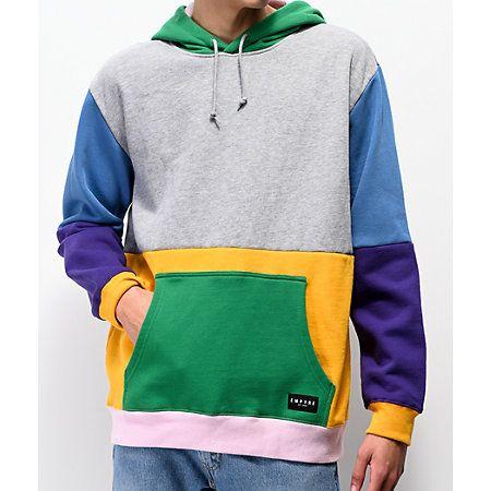 Empyre Spectrum Colorblock Green Hoodie | Hoodies, Comfy