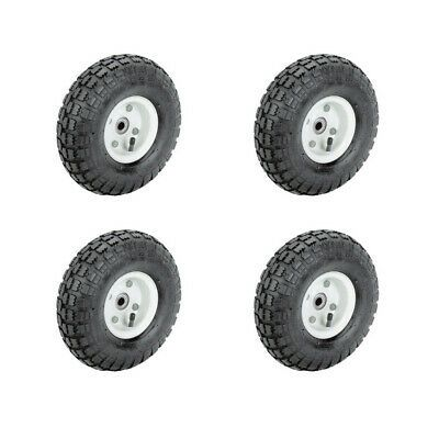 Ad Ebay Url Set Of Four 4 10 In Pneumatic Tire With White Hub Wagon Industrial Wheel New In 2020 Industrial Wheels Wheels For Sale Wagon
