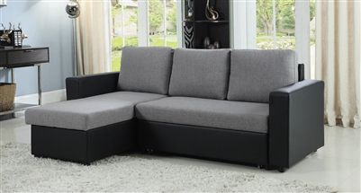Everly Reversible Sectional Sleeper In Two Tone Fabric By Coaster