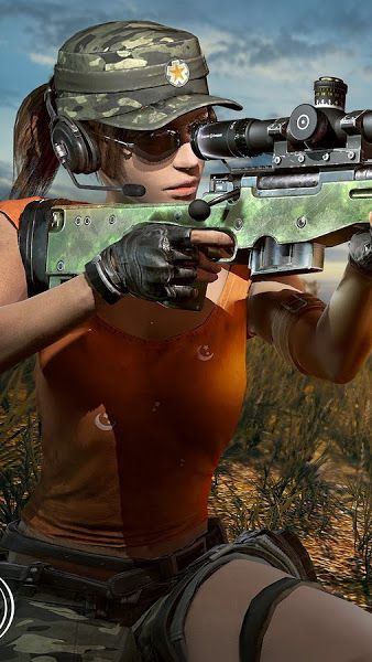 PUBG, Sniper, Girl, Sniper Rifle, PlayerUnknown's