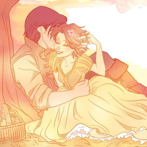 Tangled-Rapunzel and Eugene by  viria13.deviantart.com.   Gorgeous!
