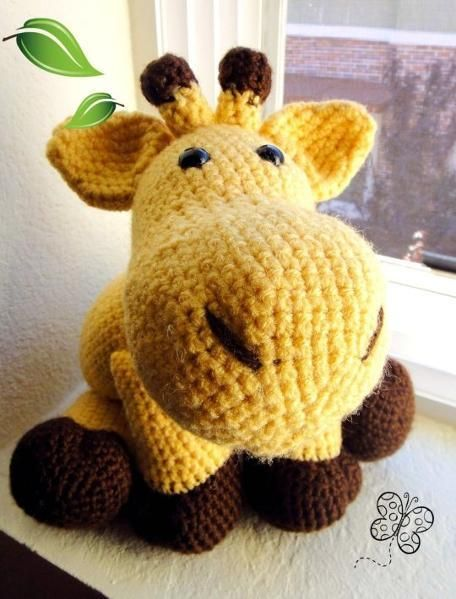 Directions for giraffe pillow pal.