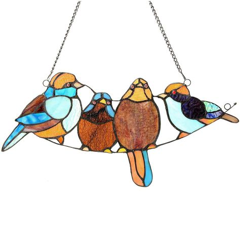 973f3127d Song Bird Tiffany Style Stained Glass Window Panel | Stained Glass ...