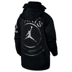 competitive price dfba4 bc234 Paris Saint-Germain x Jordan Flight Parka - Black | PSG ...