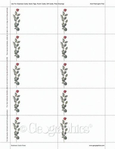 Geographics Business Cards Template Beautiful Rose Printable Business Cards Geographics Printable Business Cards Card Template Printable Cards