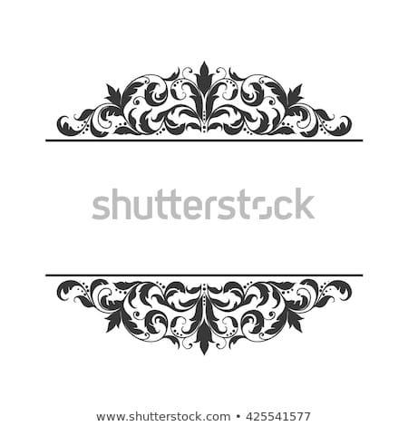 Vintage Label Frame Design Elements In Victorian Style For