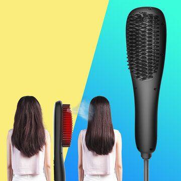 مشط رذاذ الشعر المستقيم Led Lcd عرض رذاذ الأيونات السالبة بدون ضرر Hair Straightener Hair Straightener