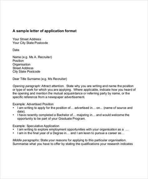 job application letter samples free amp premium templates write - job application letter