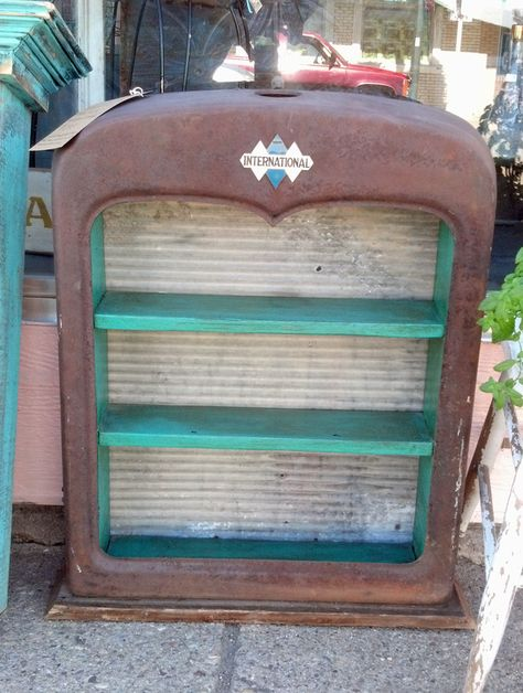 SOLD ~ la TaDa! carries all sorts of interesting repurposed creations - amazing shelf repurposed from an International Truck part $275