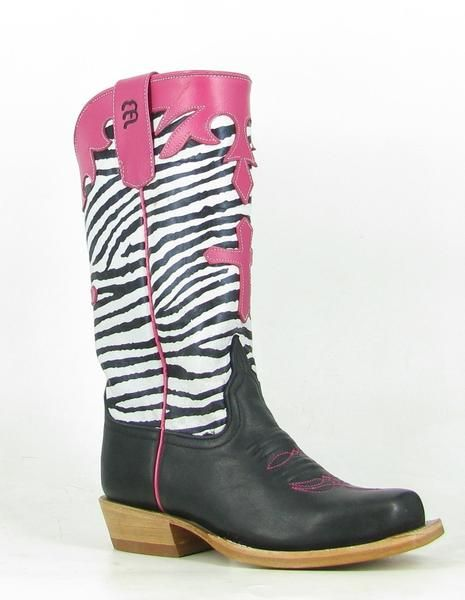 5da06261a92f These boys western boots. More information. Anderson Bean Girls Black/Pink  Leather Zebra ...